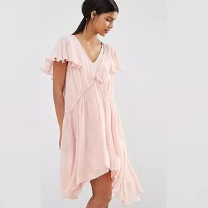 French Connection Brooke Drape Dress Medium Ballet Pink